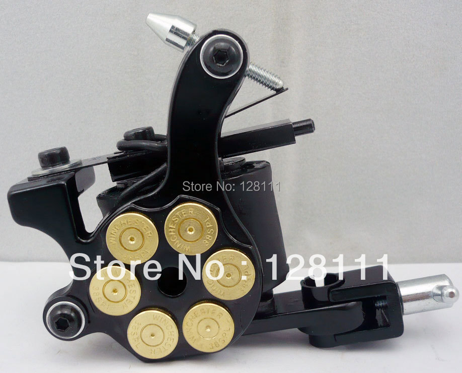 Solong Tattoo 10 wrap coils machine US Dollar Design Tattoo Machines 10 Wrap Coils Tattoo Gun For shader liner VS-M0205(China (Mainland))