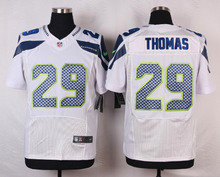 Seattle Seahawks #31 Kam Chancellor #29 Earl Thomas III #25 Richard Sherman Elite White and Steel Blue Team Color free shipping(China (Mainland))