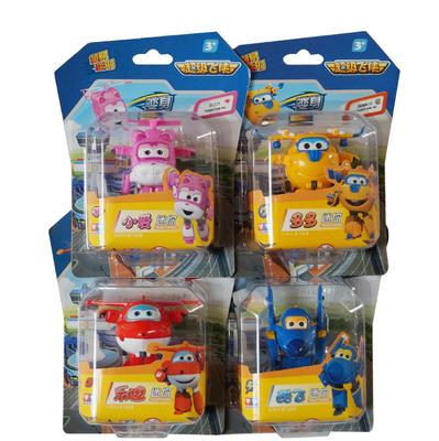 4pcs/lot Super Wings toys Mini Planes Model Deformation superi wing Airplane Robot Action Figures Boys Birthday Gift Brinquedos(China (Mainland))