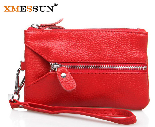Promotion!Fashion Women Wallets/Day Clutch/ Purse/ Wristlet//Cell Phone/Key Bags Carteira Feminina GENUINE LEATHER Clutch Bag
