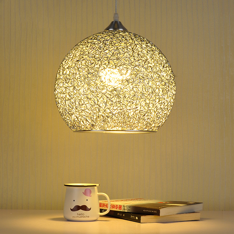 Modern Pendant Lighting Dining Room Restaurant Kitchen Lamp Aluminum Silver Lamp Shade Decoration Home Fixture E27 110-220V(China (Mainland))