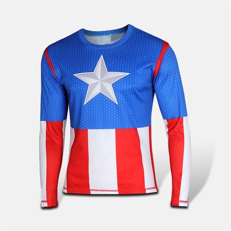 Men Super hero alliance Captain America t shirt sport Jogging Jersey Tops T Shirts soldier Marvel