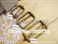 Free shipping 45pcs/lot 20mm+25mm+32mm antique brass metal adjutable buckles for bag, backpack straps.