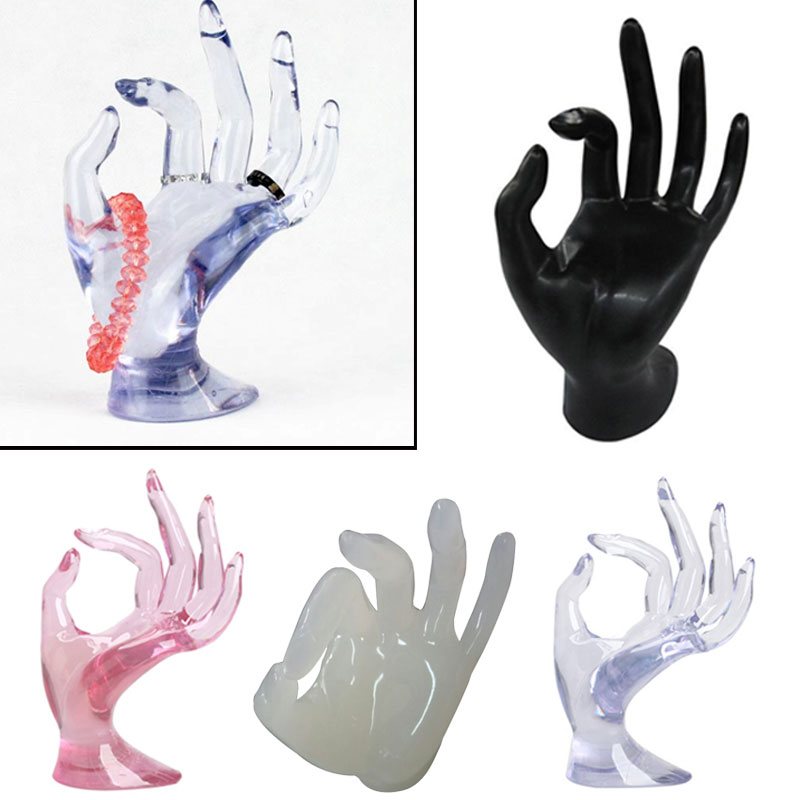Hand Shape Jewelry Display Holder Bracelet Ring Watch Stand Support New KQS(China (Mainland))