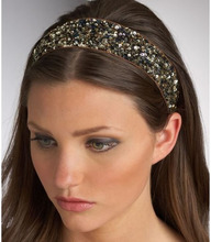 Buy women girl fashion glitter sequin elastics rubber hair head bands headband accessories hair ornaments hairband scrunchy new for $1.27 in AliExpress store