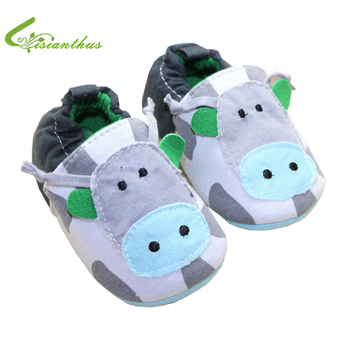 Cute Cow Design Baby boy Girl Shoes Soft Sole Infant First Walkers Toddlers Fashion Slip-on Sneakers Free Drop Ship Wholesale