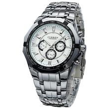 2016 CURREN Top Brand Luxury Men Quartz Sport Watch Military Wristwatches Casual Full Steel Men Watches  relogio masculino 8084