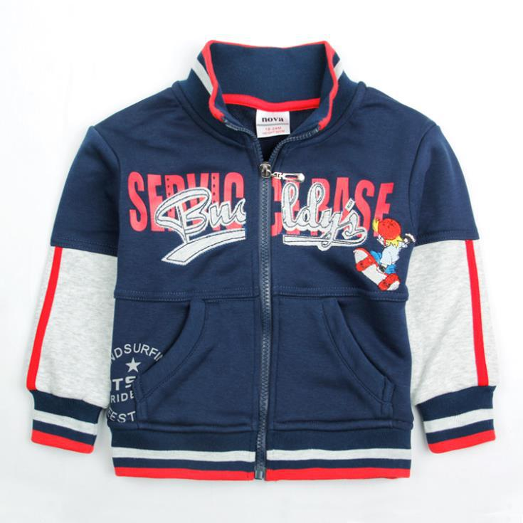 Free shipping baby clothing baby boys cotton sweater print letter and jacket for spring autumn wholesale warm coat A3596#(China (Mainland))