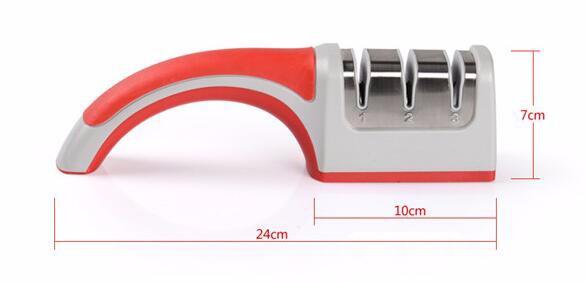 Buy Professional Stainless Steel Knife Sharpener Home Kitchen Knives Accessories Whetstones Scissor Sharpener Diamond grindstone cheap