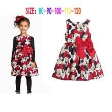 2016 girl Minnie Mouse dress girls printing dot Dresses girls clothes sleeveless dress GD007