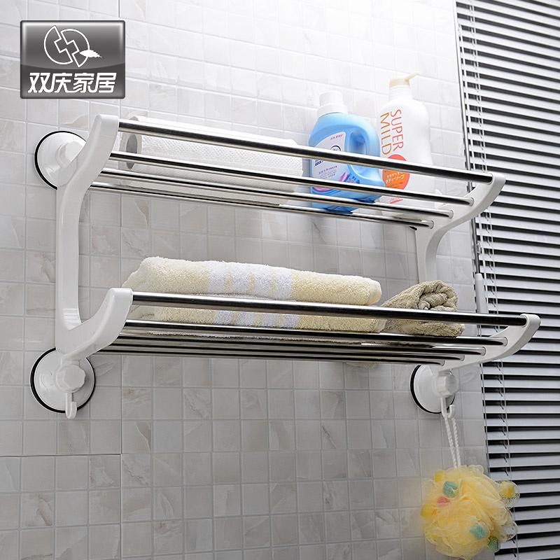 stainless steel towel rack bathroom towel rack bathroom accessories wall mounted storage(China (Mainland))