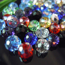 Mixed Colors 4*6mm 50pcs Rondelle  Austria faceted Crystal Glass Beads Loose Spacer Round Beads for Jewelry Making