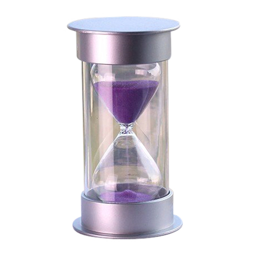 IMC Hot Plastic Crystal Sandglass 10 Minutes Sand Clock Decoration Sandglass Timer purple(China (Mainland))
