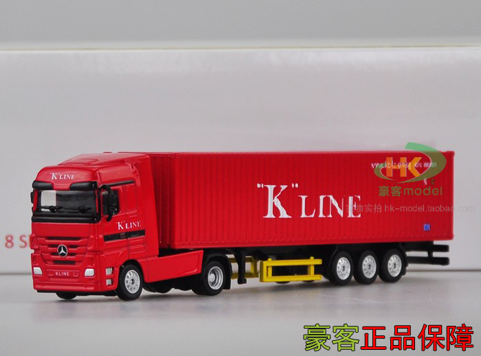 NEW 1:87 Mercedes Benz VOLVO TRUCKS FH KINE Container Truck Model Free Shipping(China (Mainland))