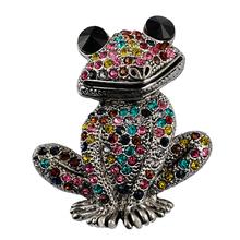 Free shipping mixed color rhinestone brooch wedding brooch female frog fashion jewelry good gift