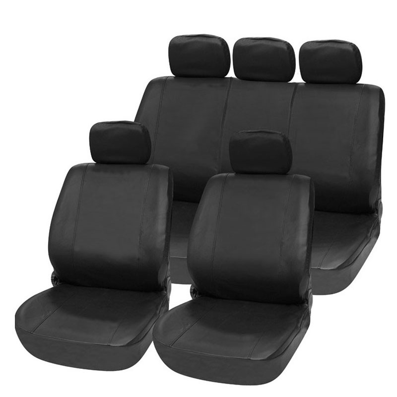 leather car seat cover pu universal size material fit for 5 seat rear seat support split 40/60 or not with 2 pillows seat cover(China (Mainland))