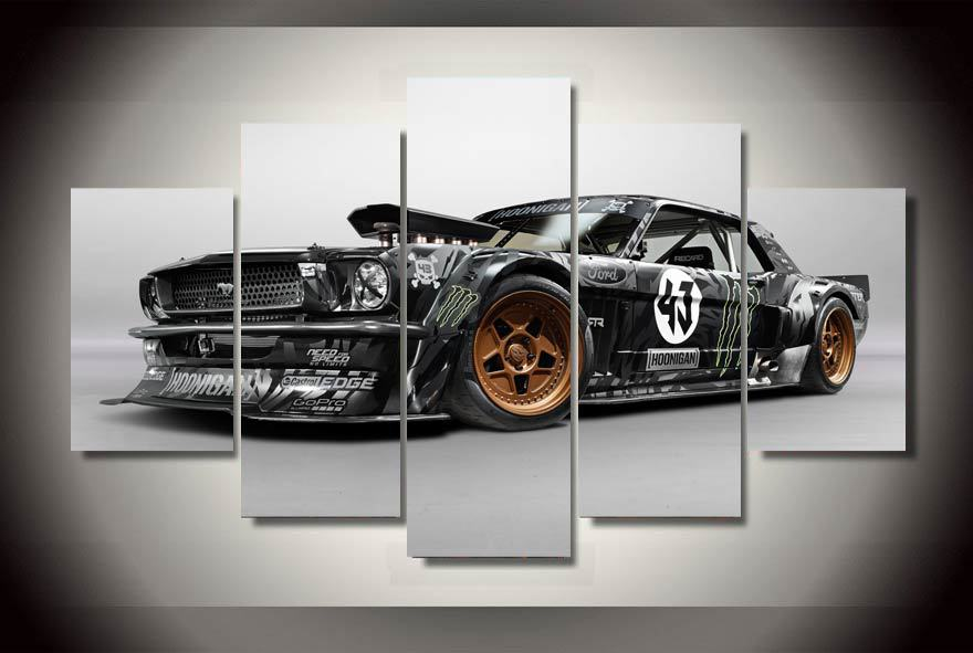 Framed Printed ford mustang rtr car Painting children's room decor print poster picture canvas Free shipping/ny-1883(China (Mainland))