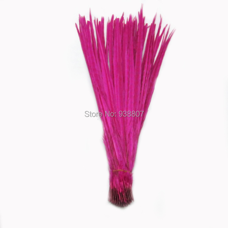 3Quality Dyed Yellow Pheasant Tail feathers 20-22''/50-55cm OT1-3 - TiTi Feather Market store