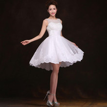 New 2016 white short wedding dresses the bride sexy lace wedding dress bridal gown plus size