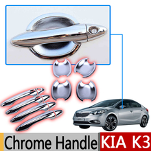 Kia Cerato Forte K3 2013-2017 Chrome Handle Covers Trim Set 4Door 2014 2015 2016 Accessories Stickers Car-Styling Naza - Earthwings Store store