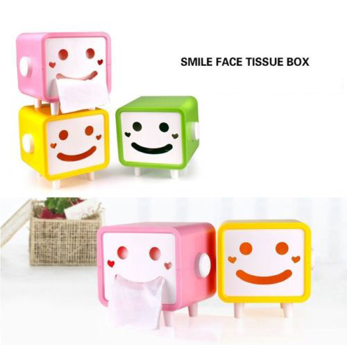 2015 Lovely Smiling Face Tissue Paper Box Cover Case Holder Home Decoration