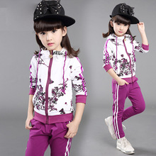 Buy DreamShining Floral Girls Jackets Autumn Kids Clothes Pants Hoodies Coats Children Tracksuit Girls Clothing Sets Sport Suit for $17.97 in AliExpress store