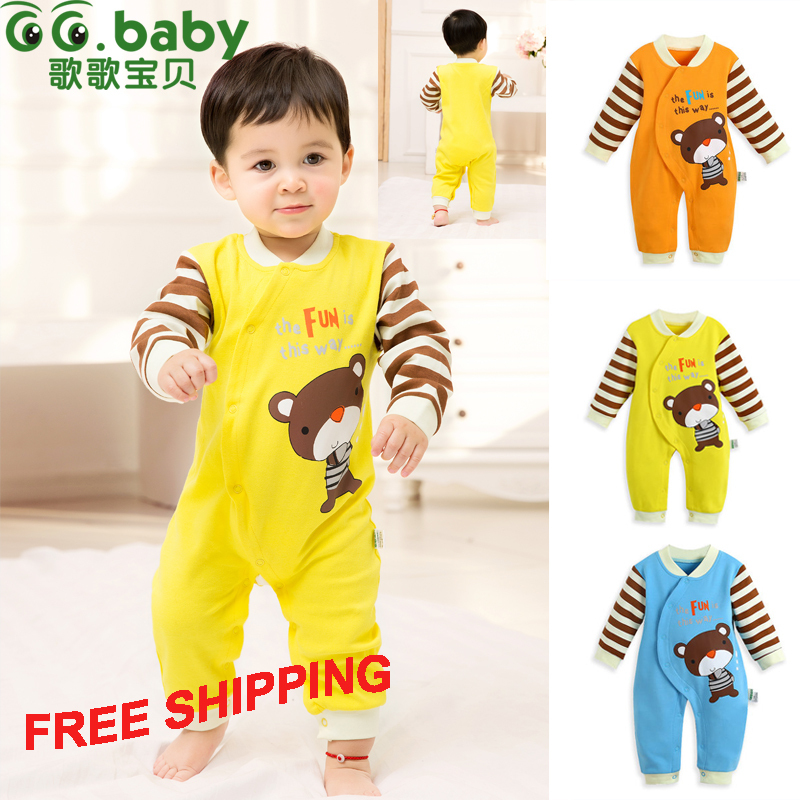 Spring Autumn Long Sleeve Cotton Romper For Babies Unisex Animal Baby Boy Overalls Newborn Baby Girl Clothing & Baby Body Suit(China (Mainland))