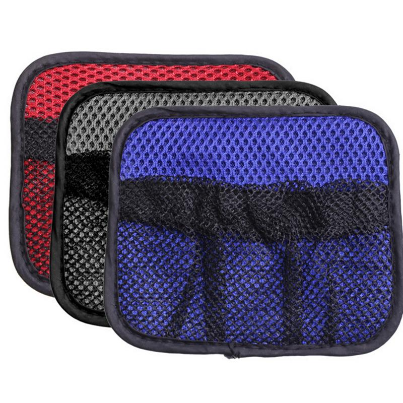 Car Net Bag Car Organizer Nets 14X12cm Automotive Pockets With Adhesive Visor Car Syling Bag Storage for tools Mobile phone()