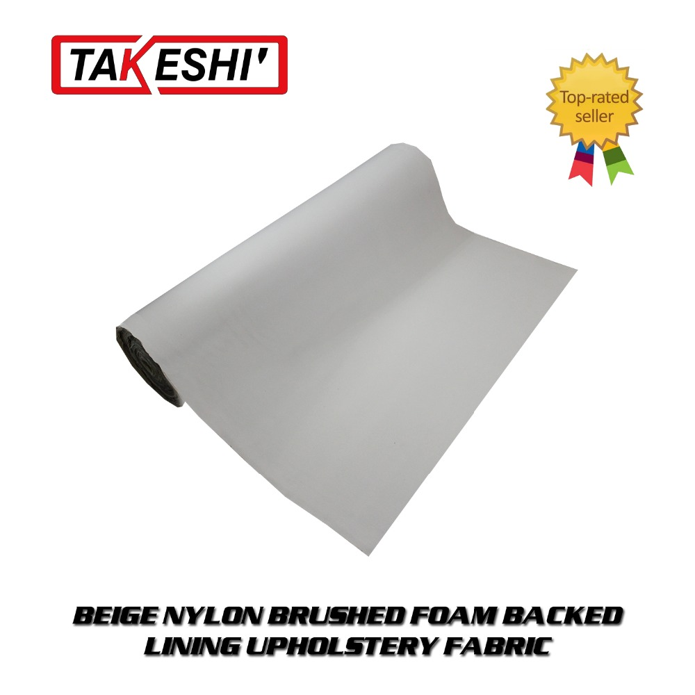 "31""x60"" 80cmx150cm High Quality beige foam backing roof lining auto ceiling pro UPHOLSTERY cover headliner fabric Material(China (Mainland))"