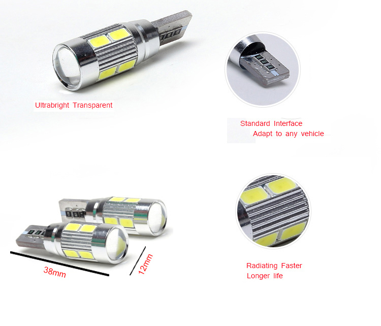 1PC lot Free shipping car styling Car Auto LED T10 194 W5W Canbus 8 smd 5630