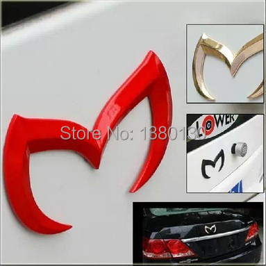 Free delivery standard Mazda bat wing after 63 Core CX-5 metal car sticker carbon fiber car stickers trailer(China (Mainland))