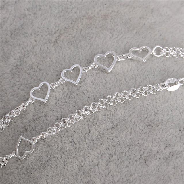 Новые 1 шт. серебряный любовь в форме сердца аксессуары и украшения женщин сексуальный ...