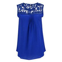 Lace Stitching Hollow Women Chiffon Shirts 2016 New European Style Casual Fashion Lace Stitching Hollow Chiffon Blouse S22101