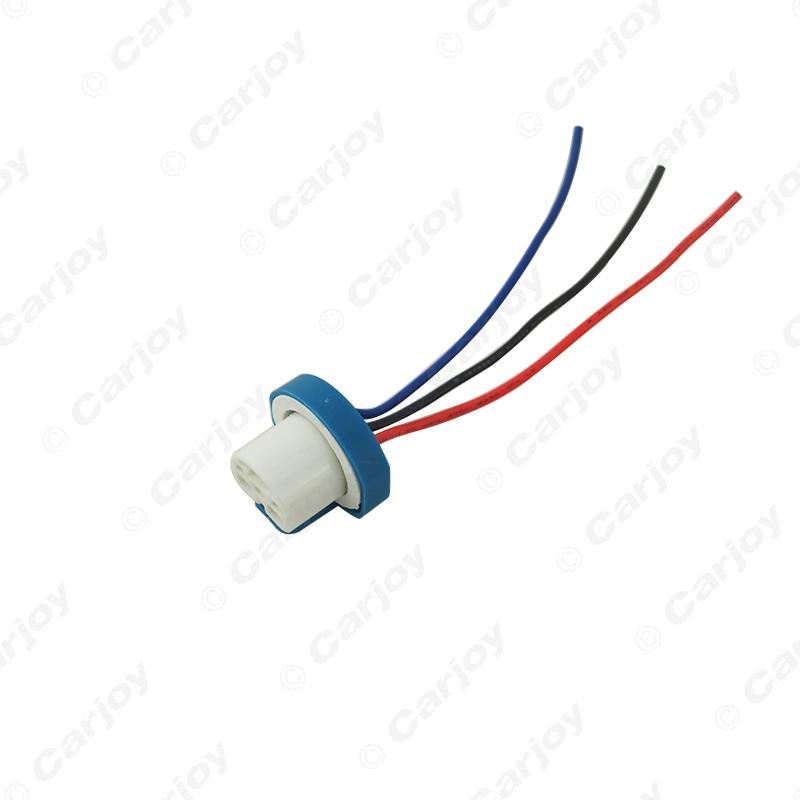 1X 9007 Ceramic Socket Xenon Lamp Wiring Harness for