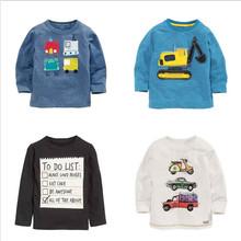 1-8 years Boys T-shirt Kids Tees Baby Boy brand t shirts Children tees Long Sleeve 100% Cotton cardigan sweater jacket shirts