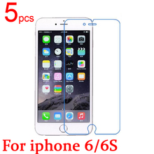 5pcs Glossy Ultra Clear LCD Screen Protector Film Cover For Apple iphone 6 6G 6S Film + cloth