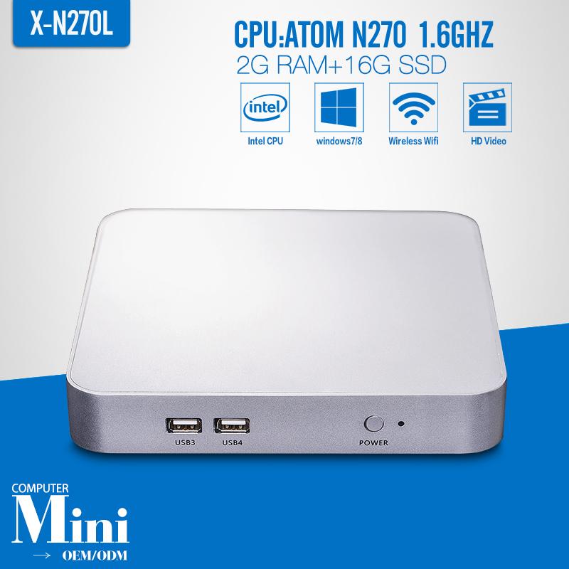 N270 2G RAM 16G SSD WIFI Htpc Mini PC Mini Computer Thin Client Mini PC i3 Thin Client Computer Industrial Mini PC(China (Mainland))