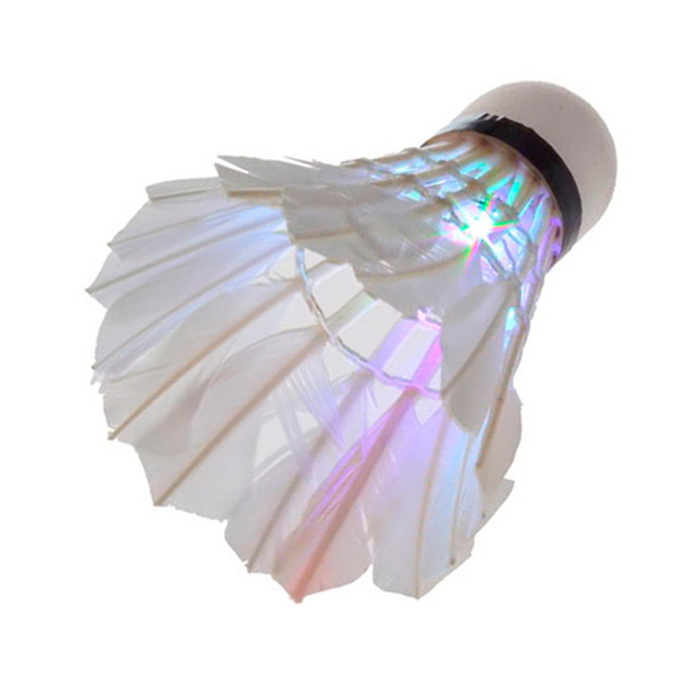 Top sales loe cost Dark Night LED Badminton Shuttlecock Birdies Lighting 7 color red/green/blue change(China (Mainland))