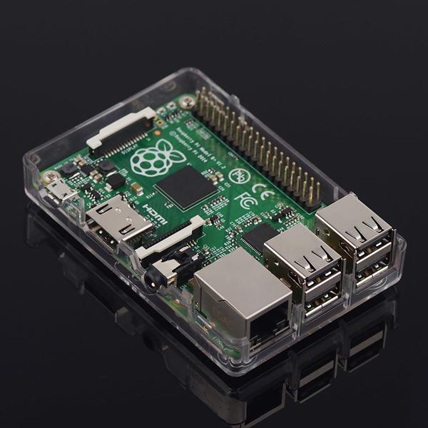 New Raspberry Pi Model B+ (B Plus) 512MB - Linux Based - Board & Acrylic Case Box Shell Enclosure(China (Mainland))