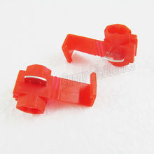 Free shipping 50PCS Red Scotch Lock Quick Splice 22-18 AWG Wire Connector(China (Mainland))