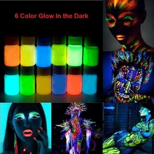 3pcs /lot Glow in the dark Face body Paint 25g for 1 bottle 12 Colors lumious Acrylic Paints Art for Party & halloween Make Up(China (Mainland))