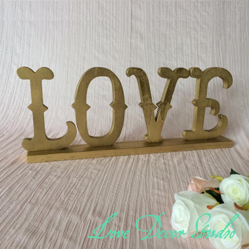 Buy Home Decor Love Sign Made Of Wood