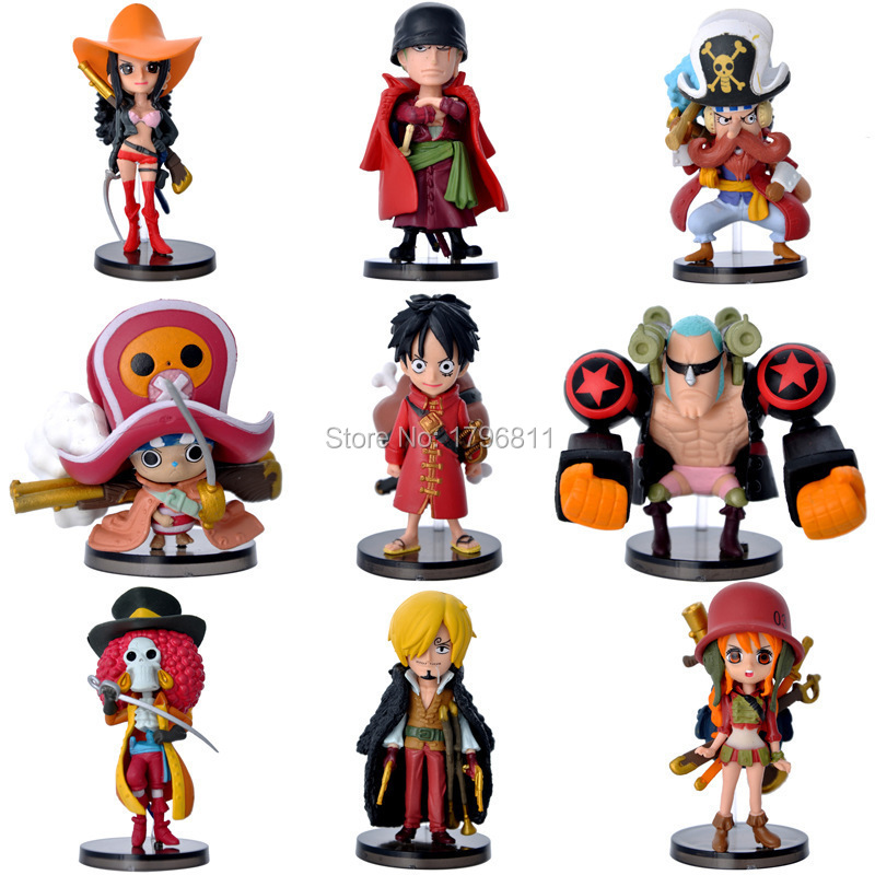 Two Years Later Monkey D Luffy 9PCS/lot Anime Model Figure One Piece Action Figure Doll Toy Garage Kits(GK) Collector Figure Toy(China (Mainland))