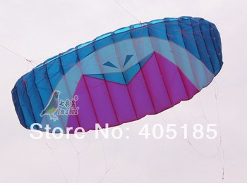 Free Shipping High Quality Four-wire Software Power Stunt Parafoil Parachute Nylon Sports Beach 3.3 m Kite For Professionals(China (Mainland))
