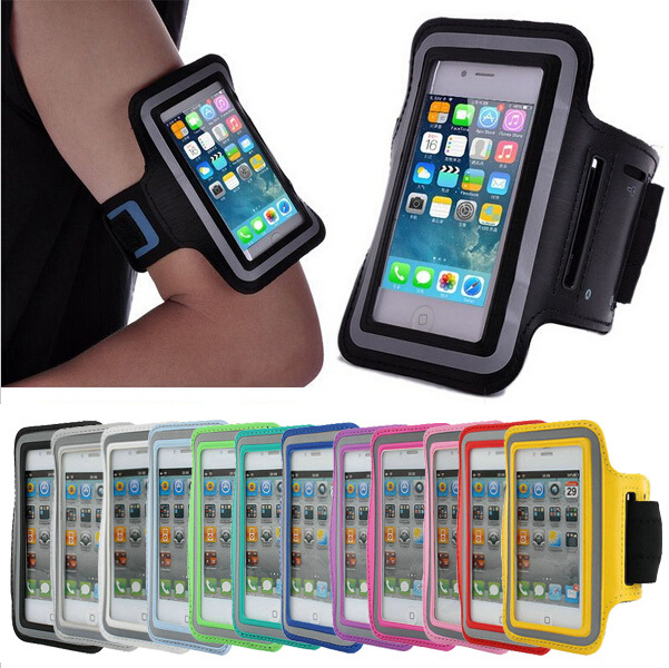 GYM Running Sport Armband Pouch Case For iPhone 5 5S 5C Arm Band Durable Waterproof Phone Bag Case 10 colors(China (Mainland))