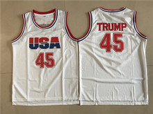Buy SEA PLANETSP USA Donald Trump #45 Basketball Jersey 2017 Commemorative Edition White Color Throwback Basketball Jerseys Sale for $17.55 in AliExpress store