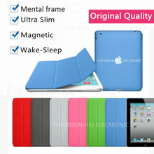 original style magnetic ultra slim leather case for apple ipad air smart cover flip thin air 1 cover for ipad air case iPad 5(China (Mainland))