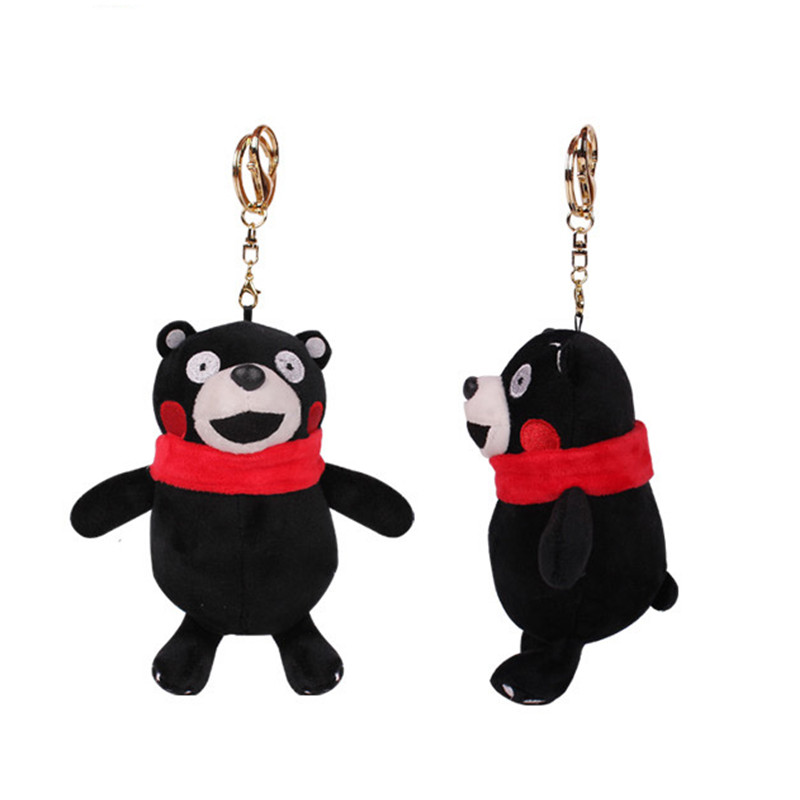 2016 Anime Stuffed Animal Japan Masot Kumamon Plush Bear Key Chain Toy Smiling Soft Stuffed Doll 15CM Cartoon Gift For Kids(China (Mainland))