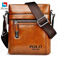 New Fashion famous brands genuine leather bag shoulder messenger Affordable gift Tasteful high quality Polo freeshipping V3G45