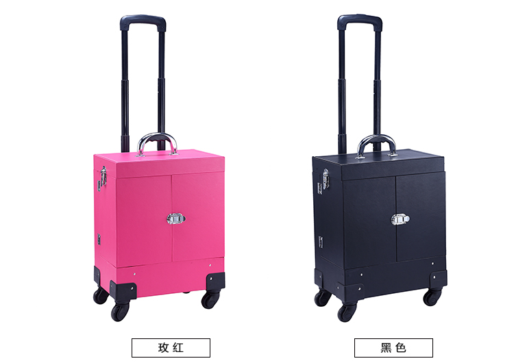 Aluminum Rolling Makeup Case Cosmetic Train Trolley Box Drawer(China (Mainland))